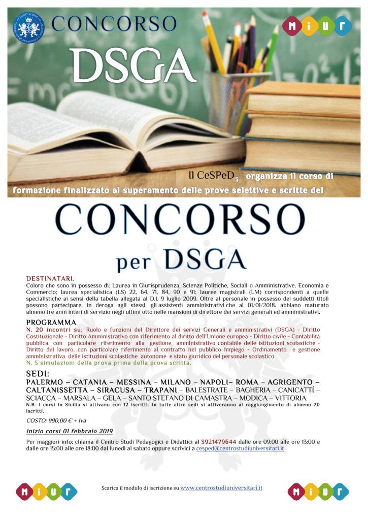 Locandina concorso DSGA - Generale
