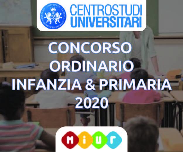 Concorso Ordinario Infanzia & Primaria 2020
