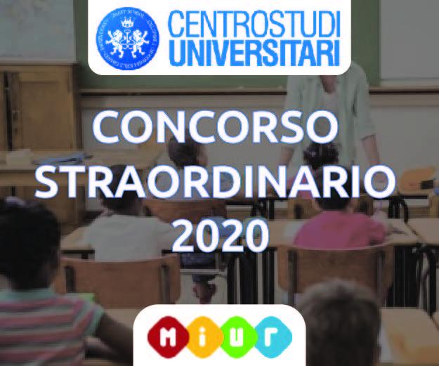 Concorso Straordinario 2020